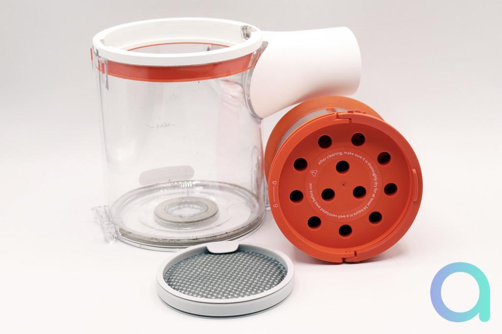 Le système de filtration et le bac à poussière