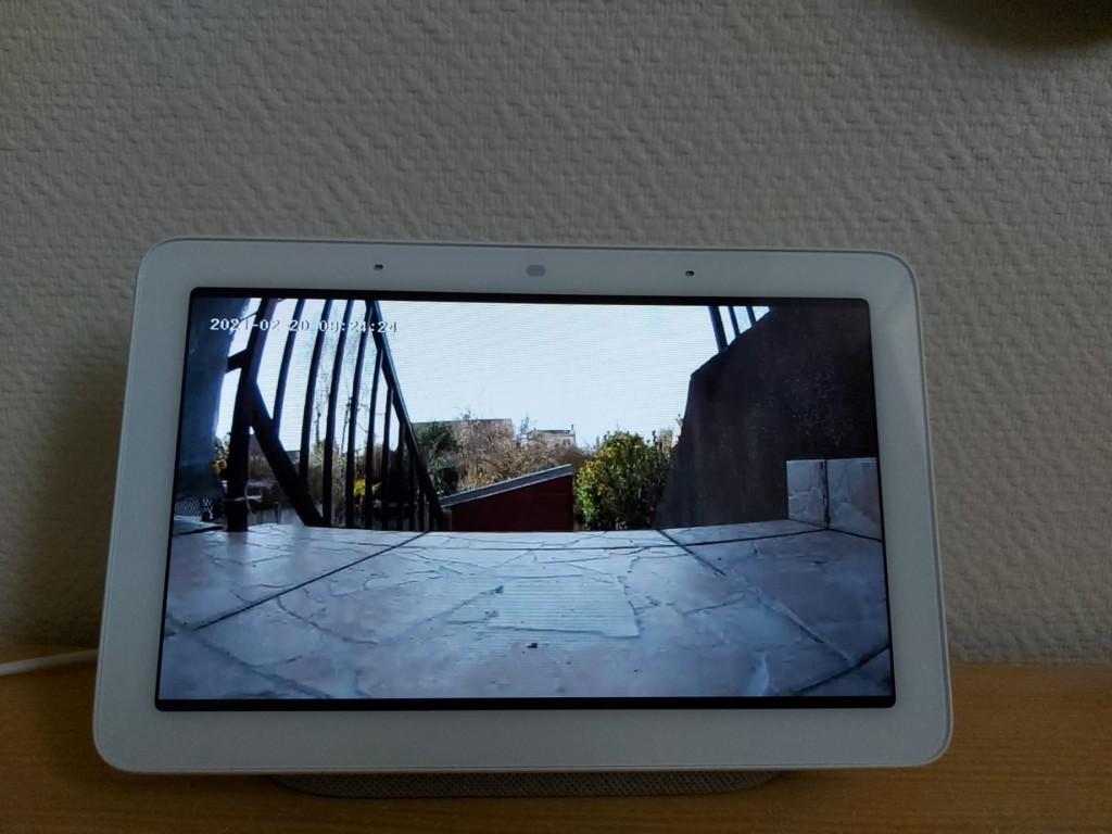 Image en SD de la Konyks Camini GO sur Google Nest Hub