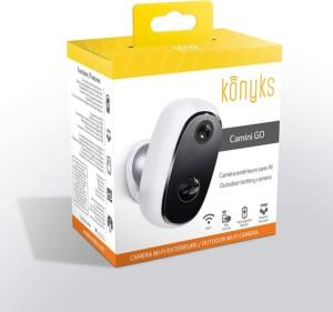 Caméra extérieure Konyks Camini GO, étanche grâce a son IP65, image 1080p, vision de nuit et son bidirectionnel compatible Google Chromecast et Amazon Alexa Echo Show