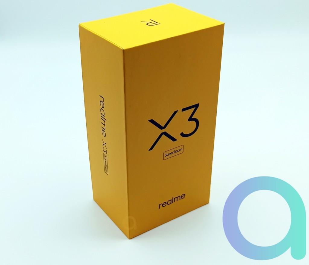 avant du packaging du smartphone Realme X3