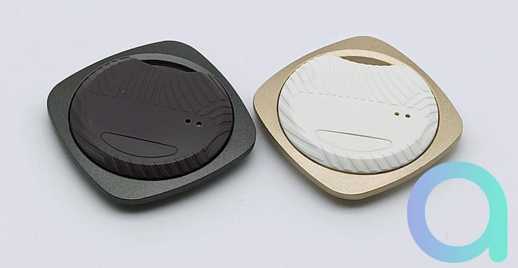 dessous du traqueur Nutal Focus avec bouton double fonction appage et recherche du téléphone