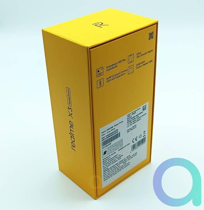 dos de la boite du smartphone Realme X3