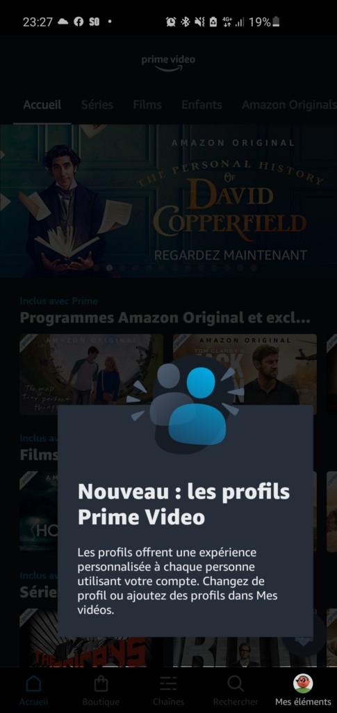 Nouveauté : des profils dans Amazon Prime Video