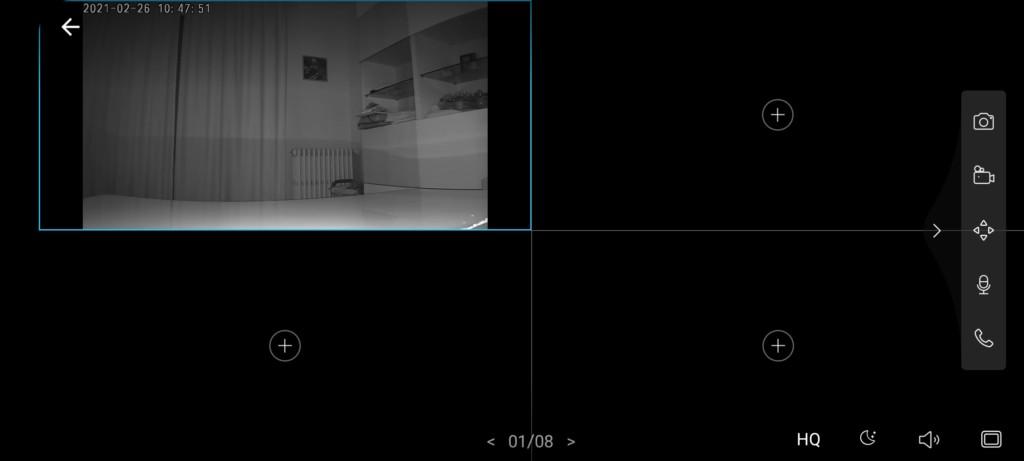 image IR HQ de la caméra interieur TP-Linnk Tapo C200
