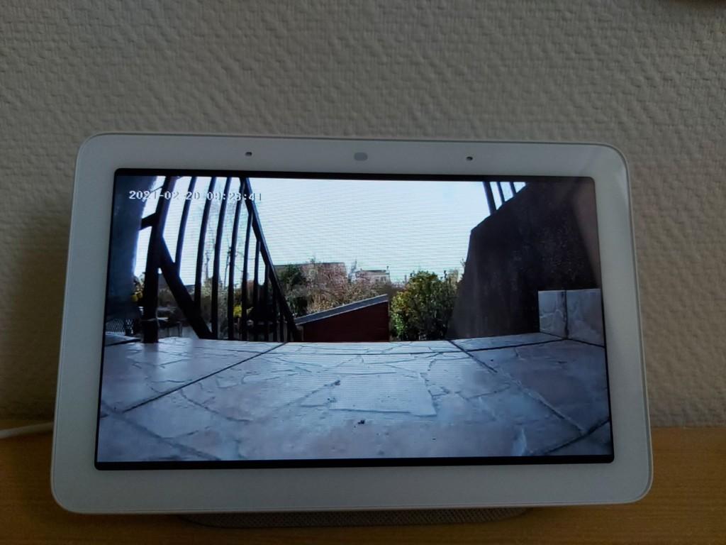 image de la Konyks Camini GO en HD sur Google Nest Hub