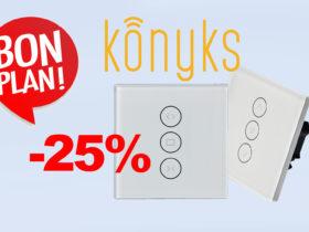 Promo sur les interrupteurs pour volets roulants Konyks Vollo Max