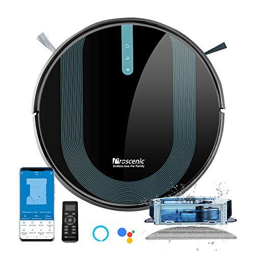 Proscenic 850T - Robot aspirateur et laveur compatible Alexa et Google Assistant
