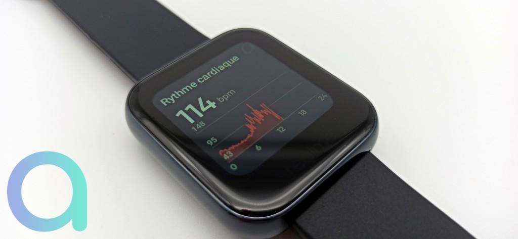 relevé rythme cardiaque sur la Realme Watch