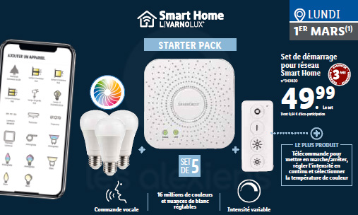 Lidl proposer également des sets de démarrage smart home le 1er mars 2021