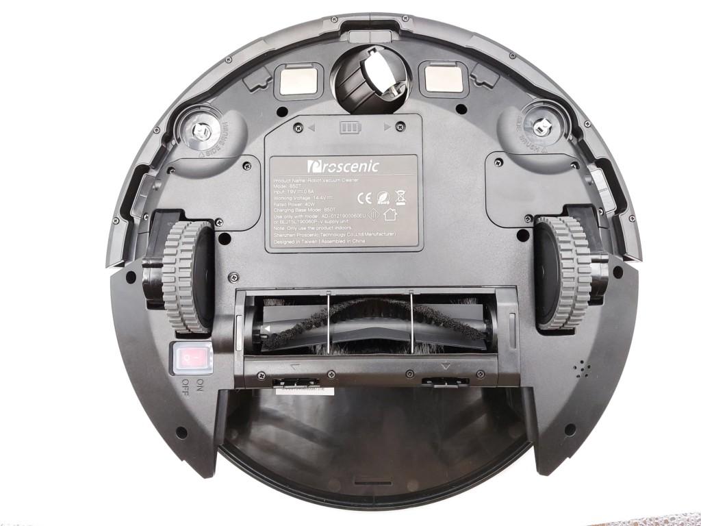 vue dessous du reobot aspirateur Proscenic 850T