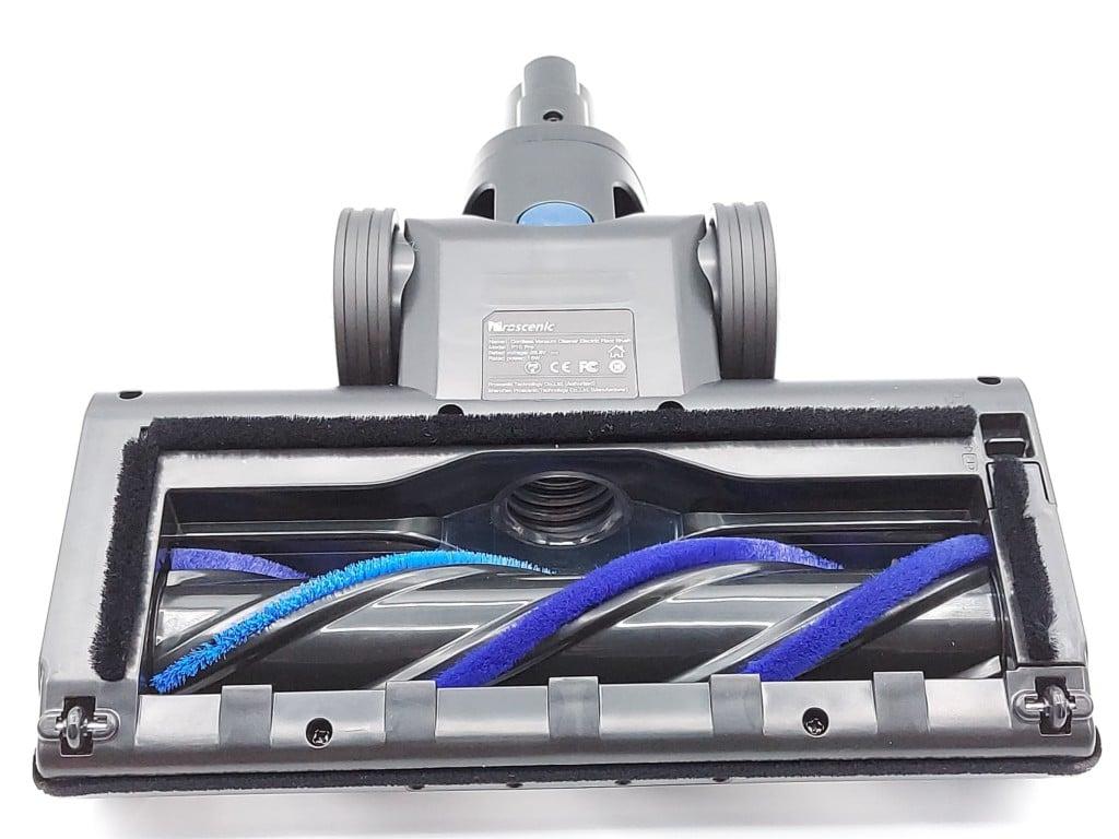 Dessous de la brosse principale du Proscenic P10 Pro l'aspirateur balai