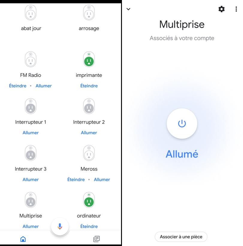 Application Google Home avec intégration complète de la multiprise Smart Home SilverCrest de lidl
