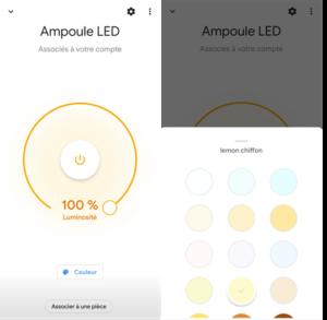 Application Google Home et intégration amploule connectée ZigBee E 27 Livarno Lux