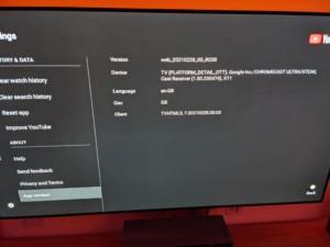 L'application YouTuve sur Google TV