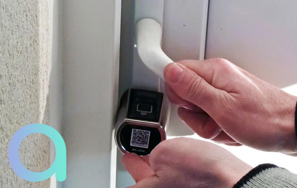 Clavier à empreinte de la poignée extérieure de la serrue connecté We.lock
