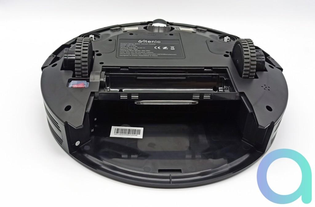 Logement pour le bac à poussière de l'aspirateur connecté D5S Pro D'Ultenic
