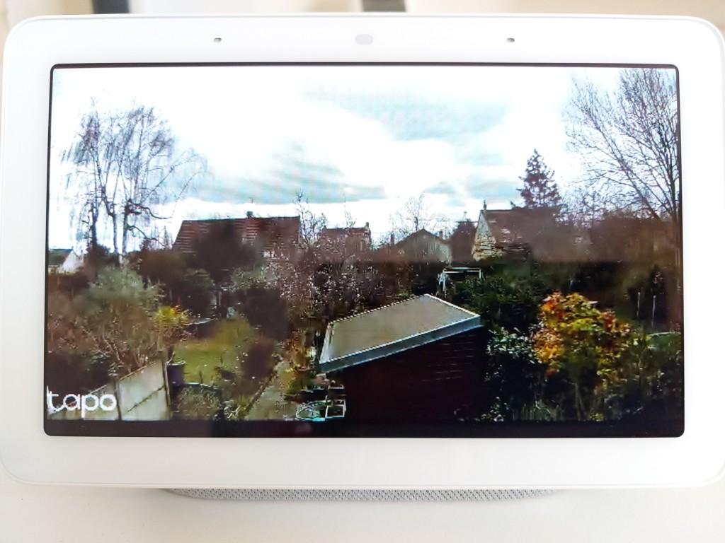 Nest Hub vue de jour avec caméra TP Link Tapo C310