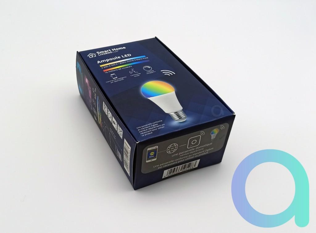 Packaging avant ampoule E27 Livarno Lux de Lidl