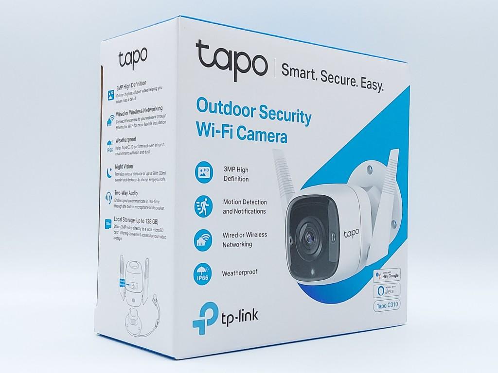 Packaging avant de la caméra extérieur TP-Link Tapo C310