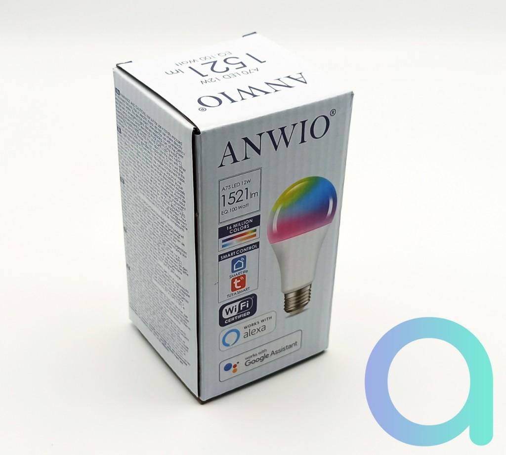 Packaging avant de l'ampoule LED E27 12W Anwio