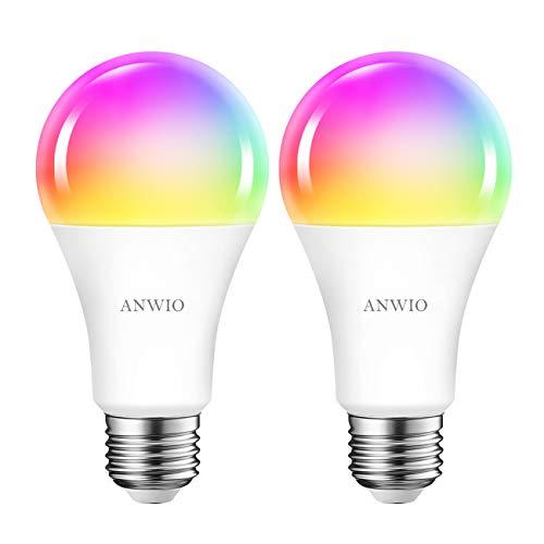 ANWIO 12W Ampoule LED WiFi et Bluetooth Intelligente E27 A70 Dimmable et multicolore, 1521Lm,
