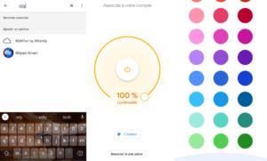 application Google Home avec intégration de l'ampoule connectée E27 12W Anwio