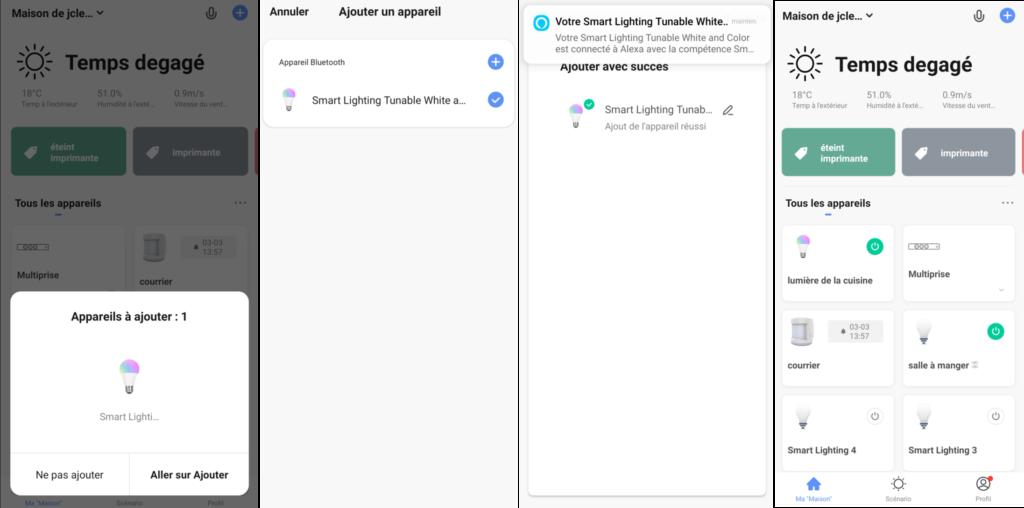 application Smart Life et intégration ampoule Anwio