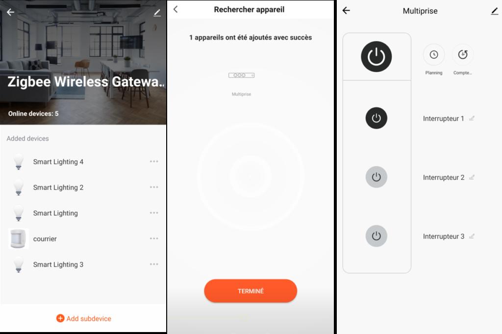 application Smart Life et intégration de la multiprise SilverCrest de Lidl sous pont ZigBee