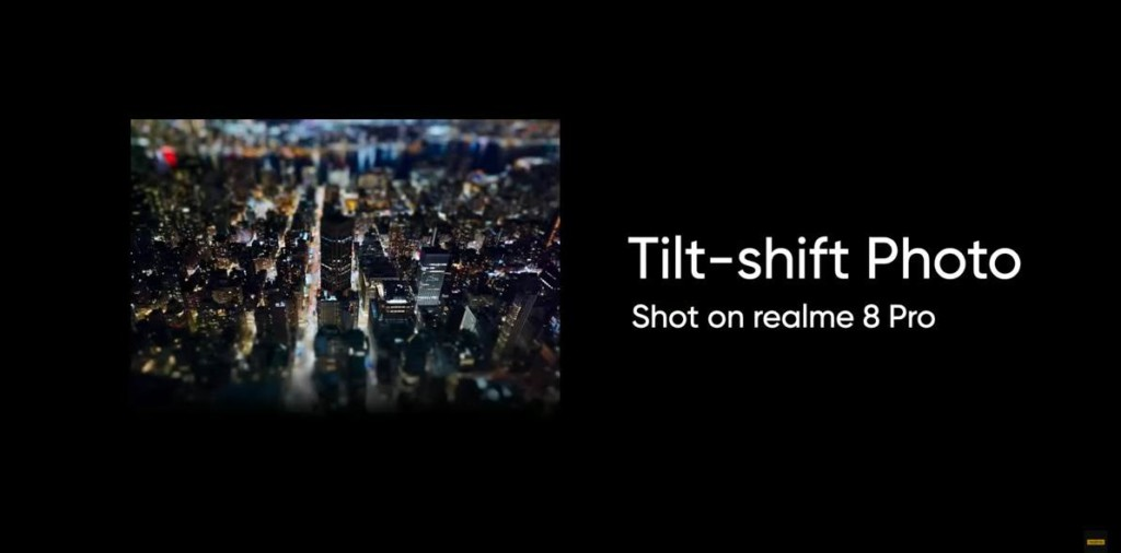 Tilt-shift Photo on realme 8 pro