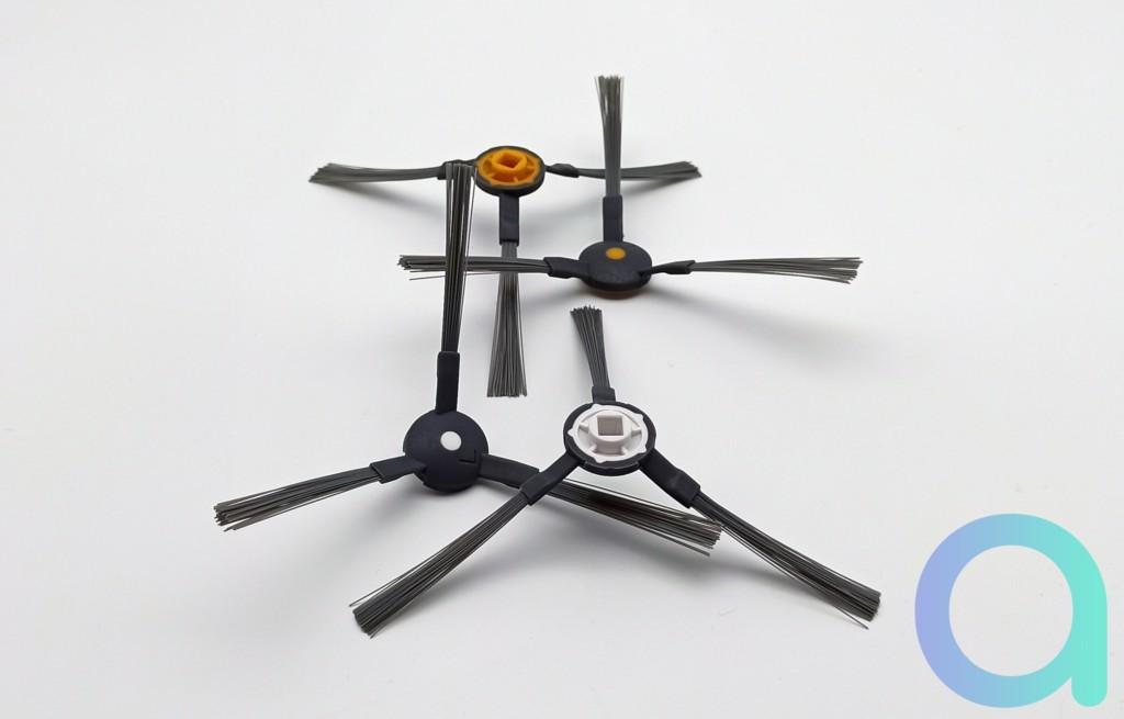 jeu de 4 brosses latérales pour l'aspirateur connecté Neatsvor X600