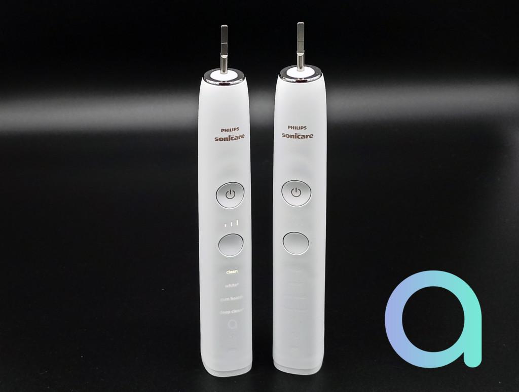 les 2 brosses à dents connectées Philips Sonicare Diamond-clean