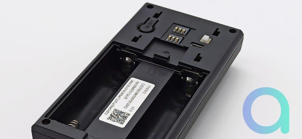 logement des piles batterie de sonnette M16 de Zemismart