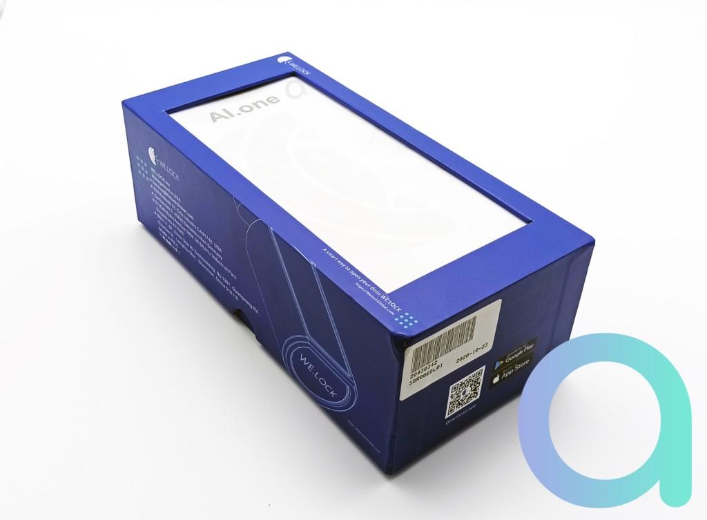 packaging bleu de la serrure connectée BT et à télécommande AI.one de We.lock
