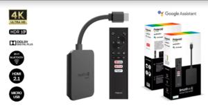 Sortie de la clé de streaming Polaroid Smartbox S avec Google Assistant