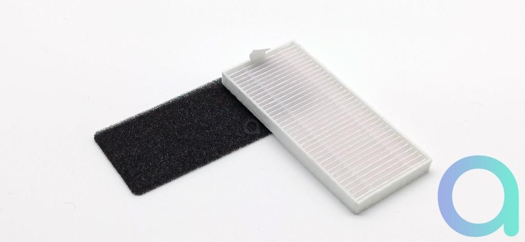 pré filtre en mousse et filtre HEPA de l'aspirateur connecté Neatsvor X600