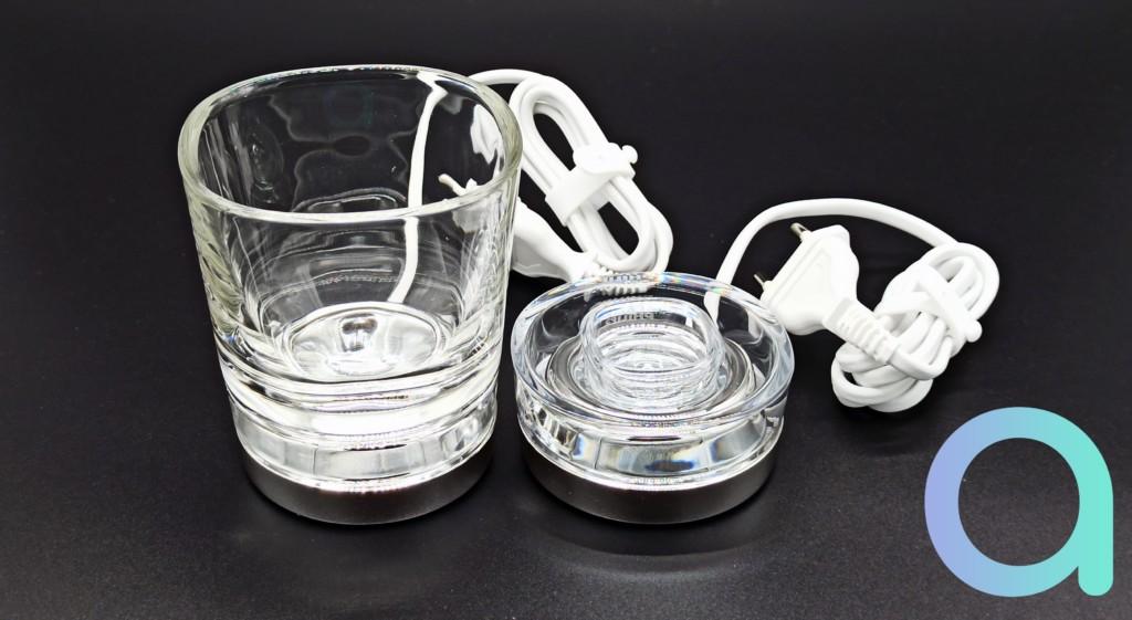 support de brosse et verre de charge pour brosse à dents connectée Philips Sonicare Diamon clean