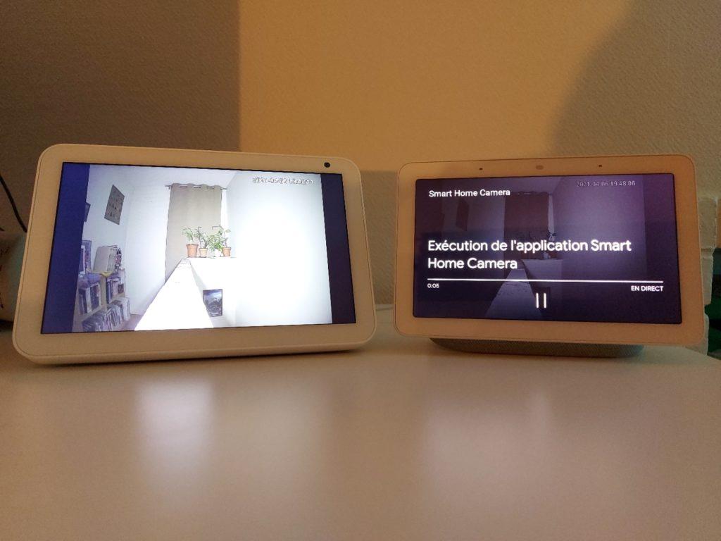 Mise en mémoire tampon sur l'ecran Google Nest Hub