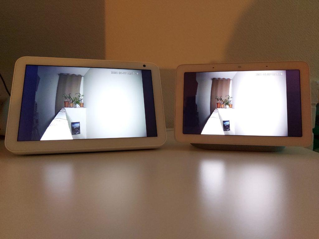 Vision nocturne sur les 2 écrans