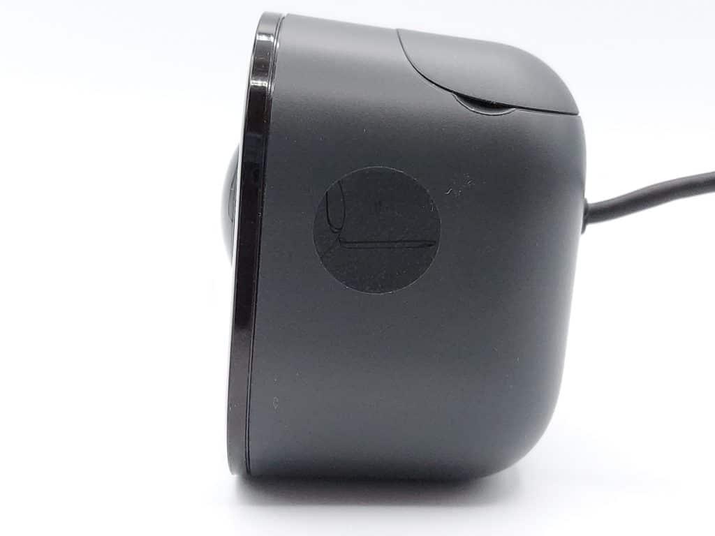 vue de profil de la caméra de porte Yale