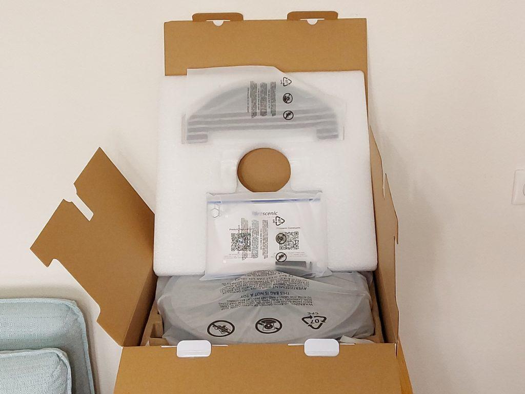 Contenu du carton de l'aspirateur M8 Pro de Proscenic