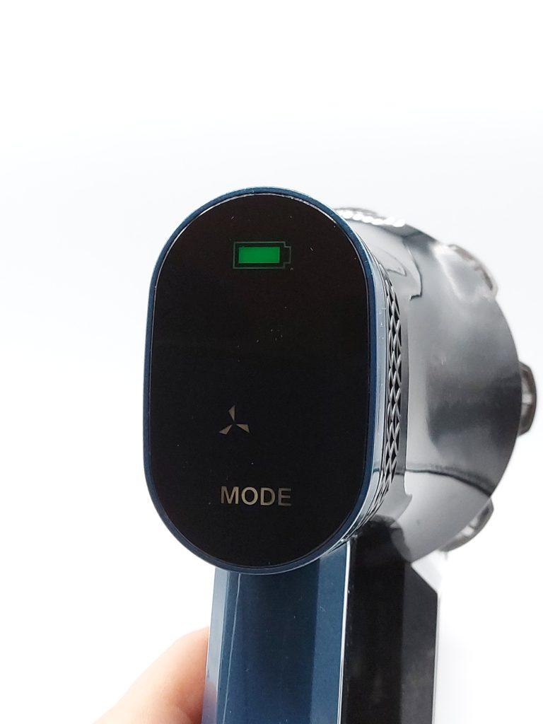 Batterie pleine et mode Eco sur l'écran tactile de l'aspirateur balai Proscenic P10 Pro