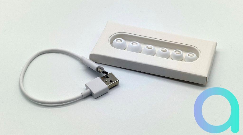 3 tailles d'embouts disponibles en plus de ceux déjà en place sur les écouteurs OPPO ENCO W51