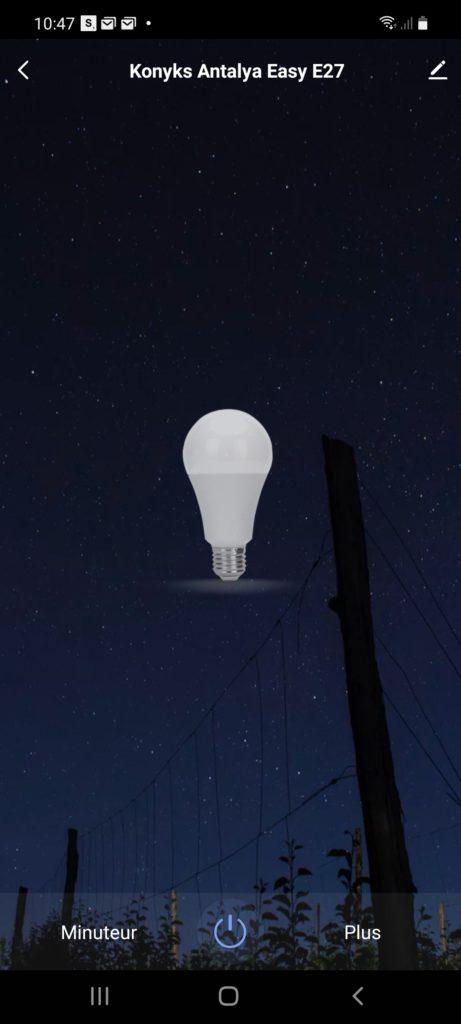 Ampoule en mode Off