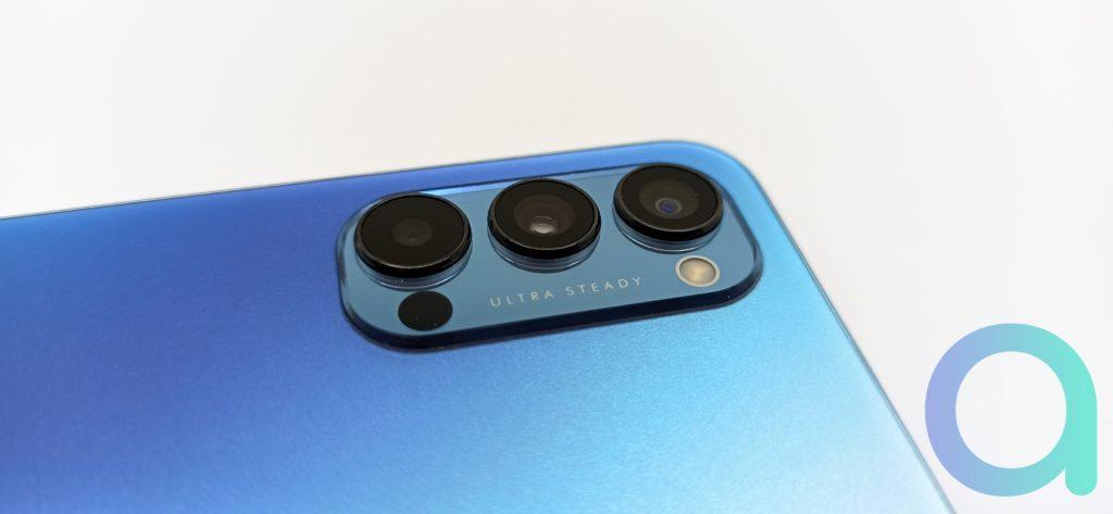 Capteur monochrome de 2 MPX avec 3 lentilles au dos du smartphone OPPO Reno4