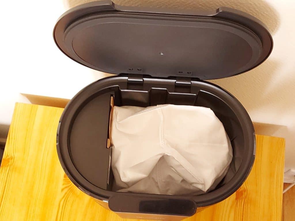 Sac à poussières dans le collecteur de déchet de l'aspirateur Proscenic M8 Pro