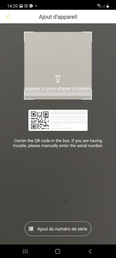 enregistrement par QR code
