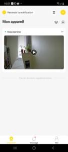 page d'accueil de l'application Yale avec intégration de la caméra de porte