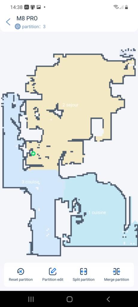 partition en 3 zones de l'étage