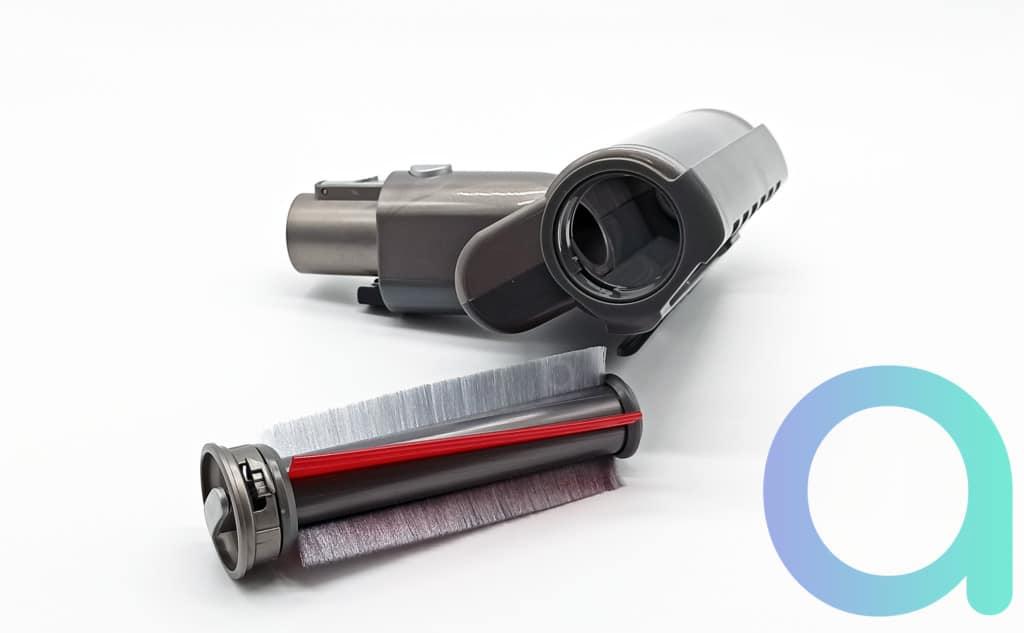 rouleau bi matière de la mini brosse d'aspirateur H8 Pro de Jimmy