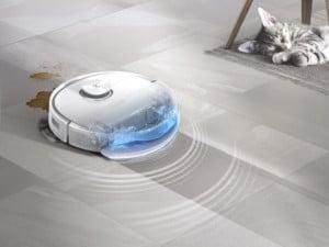 Un robot laveur avec nettoyage à hautes fréquences